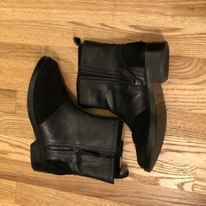 KDB Black Suede/Leather Booties